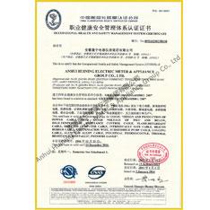 сертификат системы управления  профессиональной безопасности и здоровья