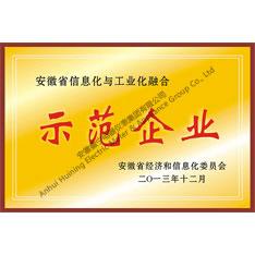 安徽省信息化与工业化融合示范企业