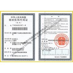 Organization code certificate (copy)