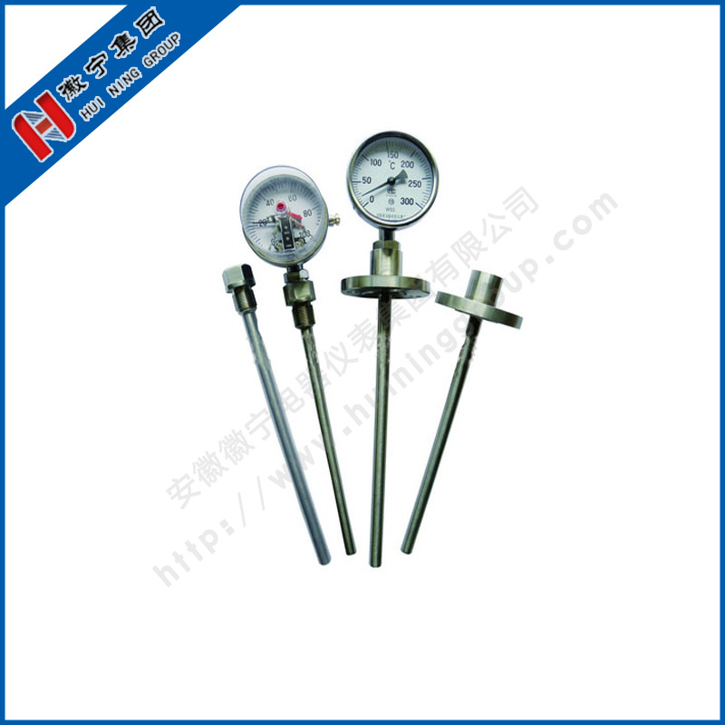Thermal sleeve type double metal thermometer