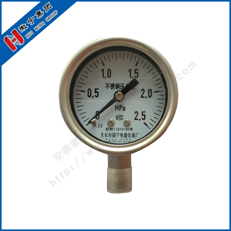Stainless steel pressure gauge